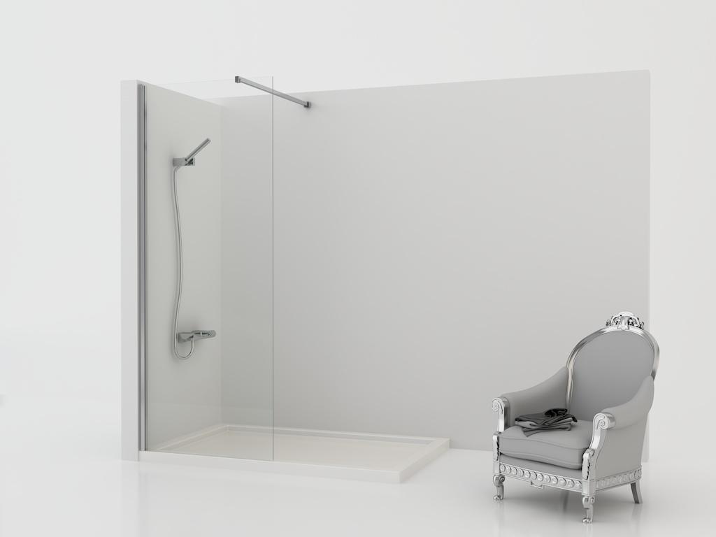Mampara de ducha fija de cristal