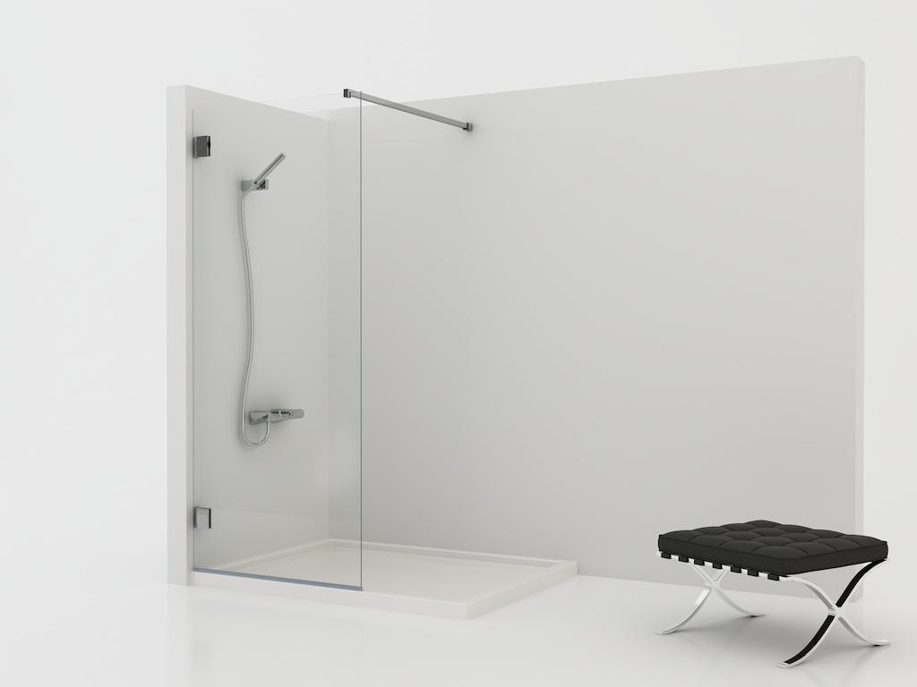 Mampara de ducha fija de vidrio