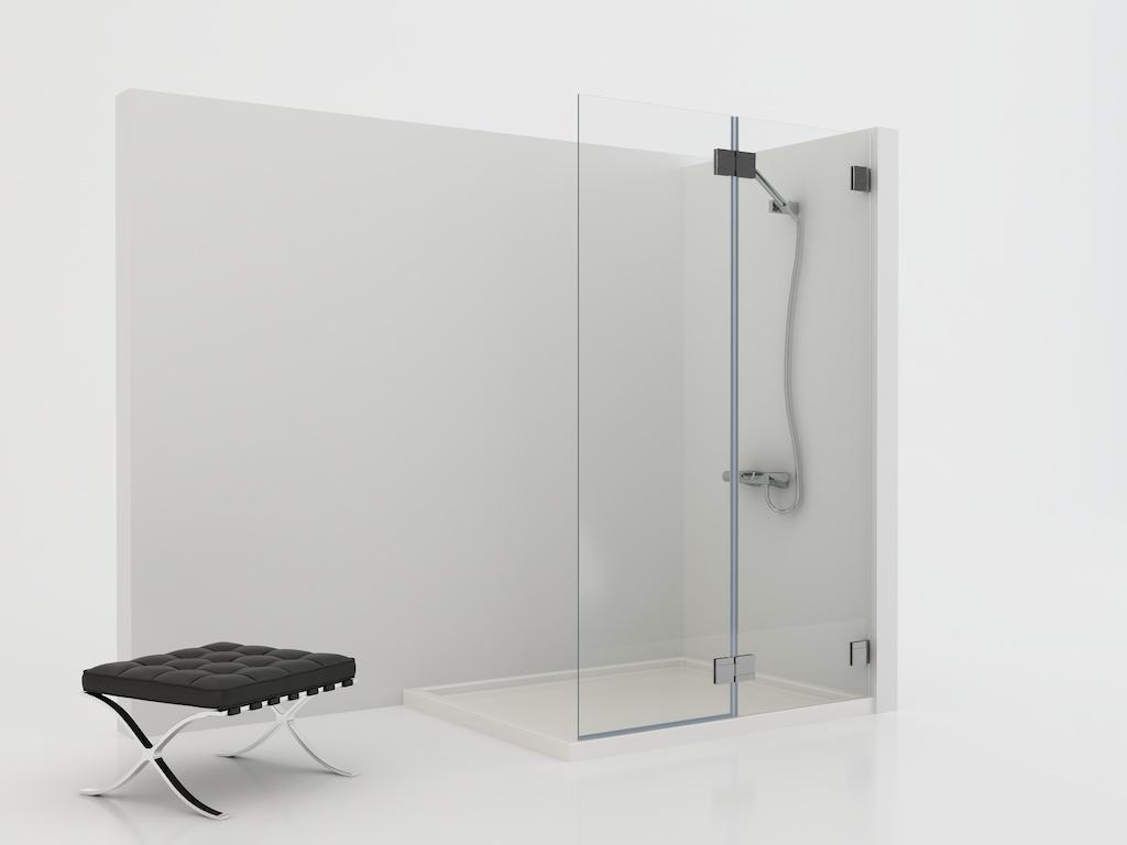 Mampara de ducha con dos hojas abatibles