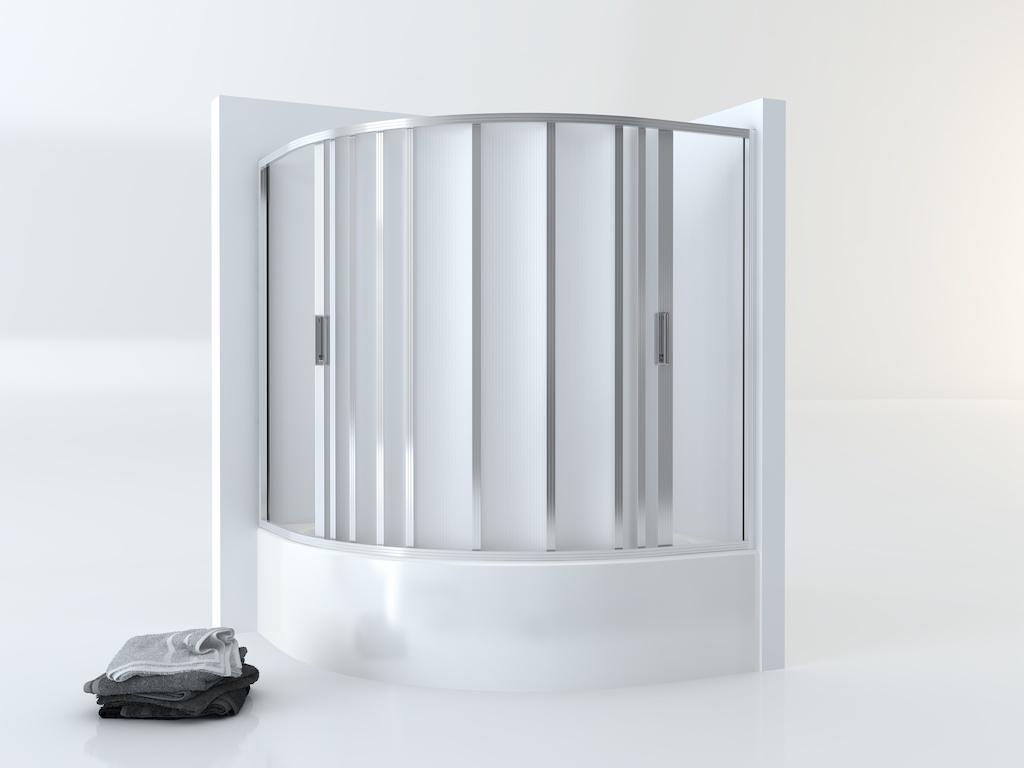 Mampara plegable semicircular para bañera