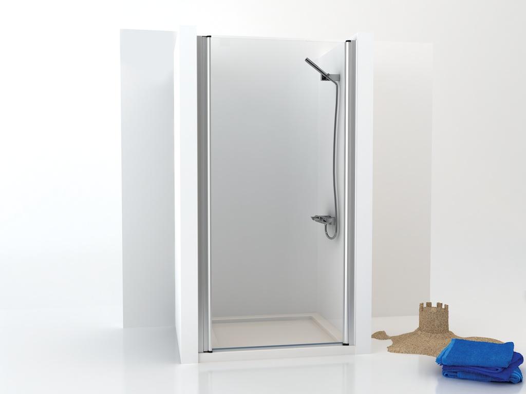 Mampara de ducha de una puerta de cristal