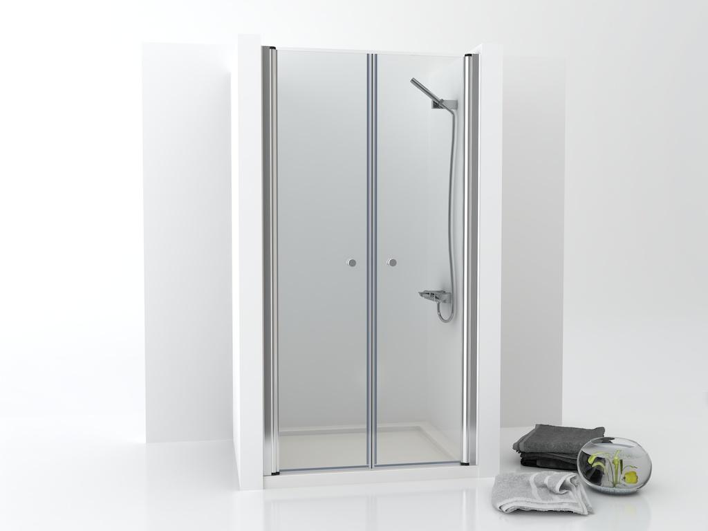 Mampara vidrio con dos puertas